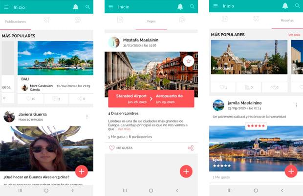 app de viajes